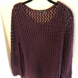 Dex Maroon Knit Sweater